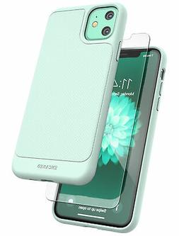 iPhone 11 Mint Green Case | Thin Fit Grip Case with Glass Sc