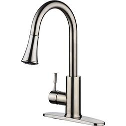 pH7 F03 Kitchen Sink Faucet Hose and Docking System, Brushed