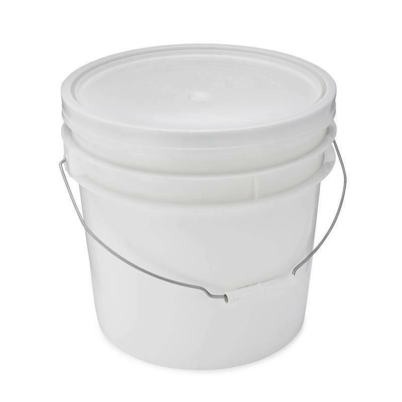 1 Bucket With Lid, White,