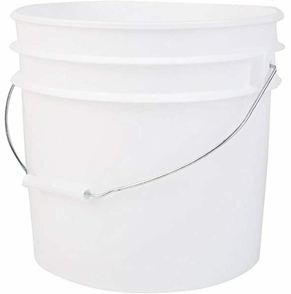 1 Bucket With And Lid, White,