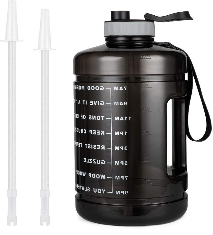 1 Water With Straw Time Marker Gym Free