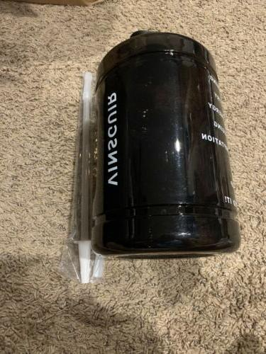 1 gallon water bottle with straw