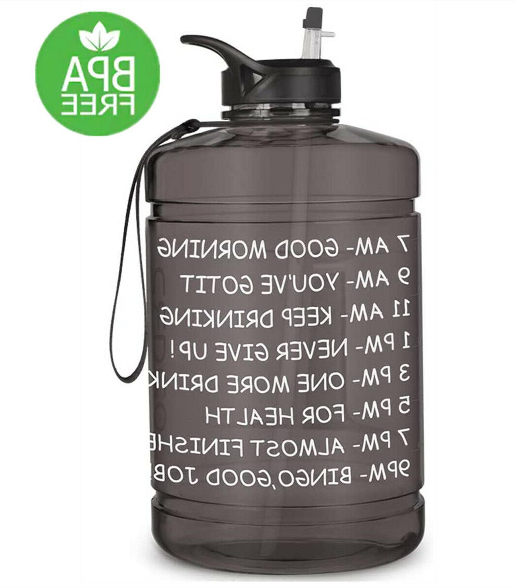 1 gallon water bottle with time marker