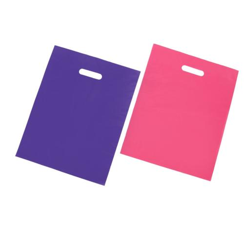 100 Plastic Merchandise Shopping Bags Gift Retail 12x15 Pink
