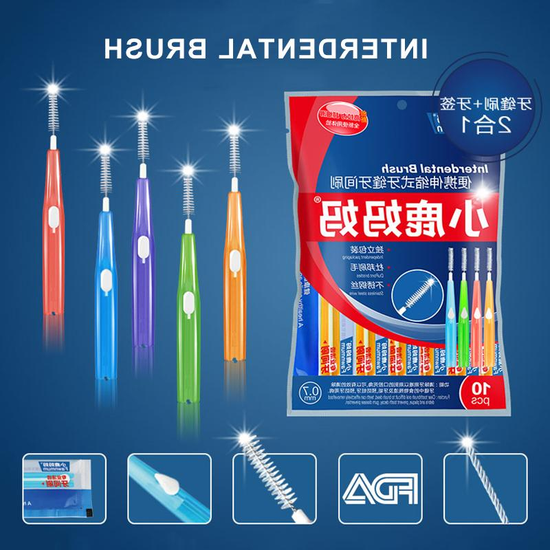 Clean Floss Push-<font><b>pull</b></font> Cleaning Dental Brushes Teeth Care