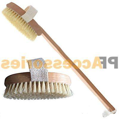 "15"" inch Spa Back Body Shower Bath Brush with Natural Wood L"