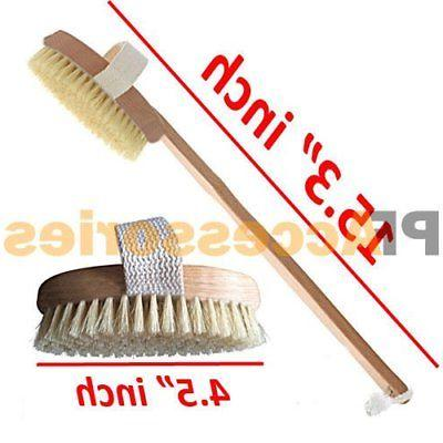 """15"""" Spa Back Body Shower with Natural Wood Long Removable"""