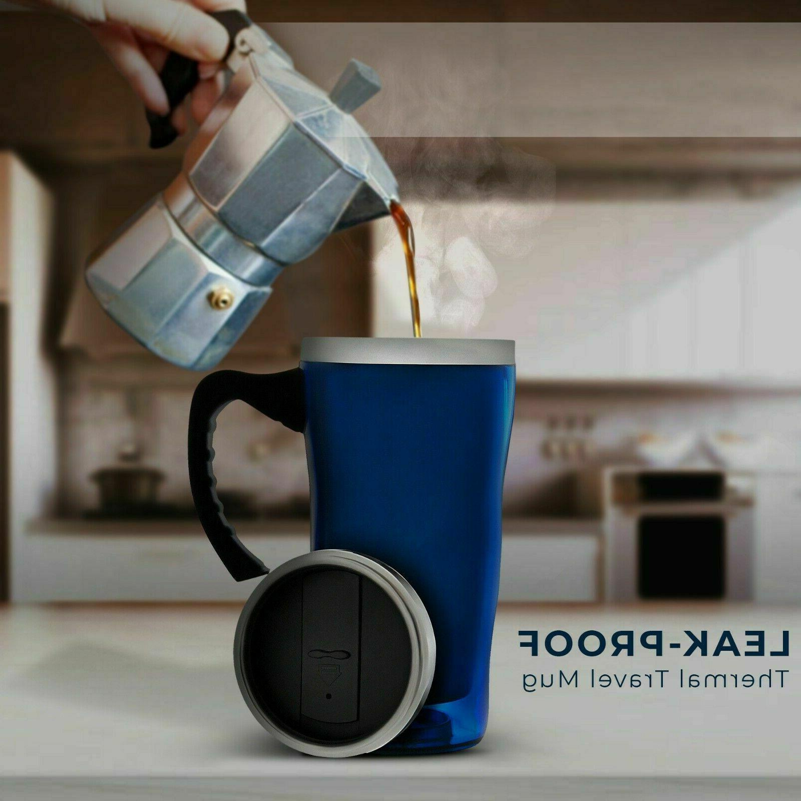 16 Stainless Thermal with Handle-Double Wall Insulated Cup