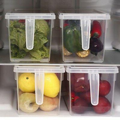 Kitchen Transparent Storage Case Food Container with Handle