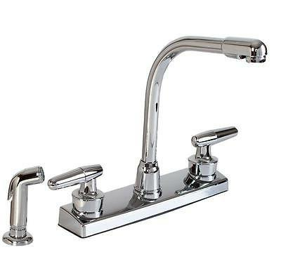 Hardware House 12-1927 2-handle Hi-rise Kitchen Faucet with
