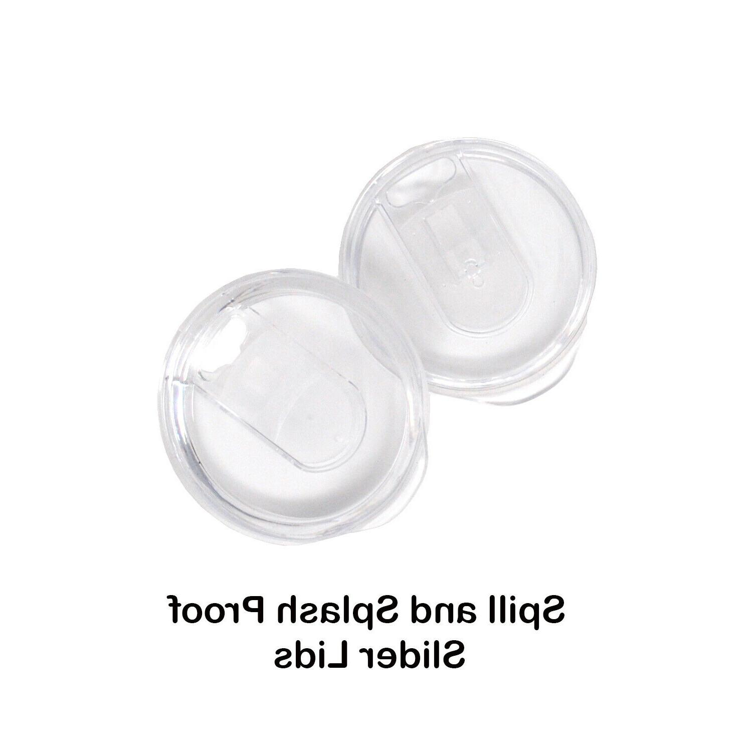 2 Pack 12 Handle Steel Mug Cup Lid Double Wall Insulated