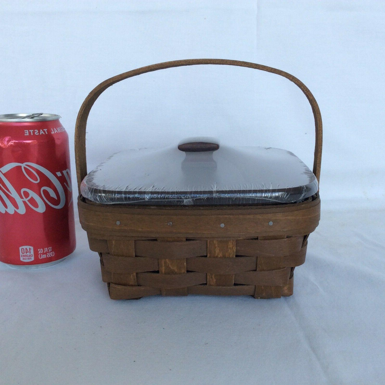2016 Basket with Handle & OPTION to WOOD LID New