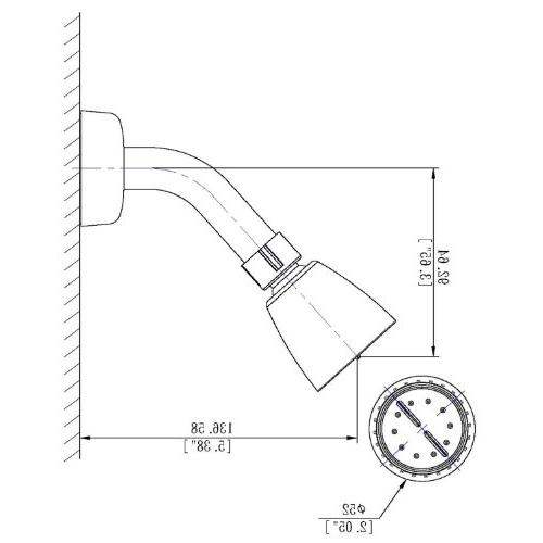 """Laguna Brass 3330ACP/4010CP Mobile Home Handle 4"""" Valve with Shower Head/Arm/Flange,"""