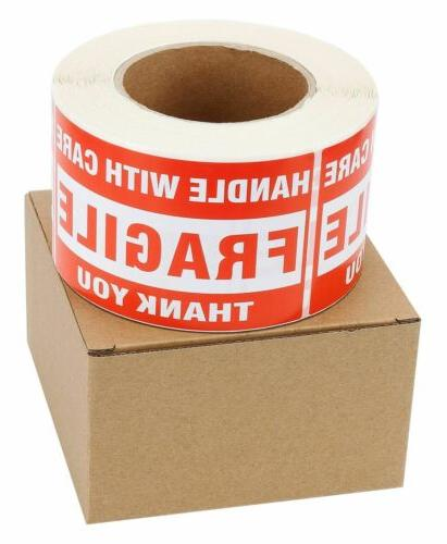 3x5 FRAGILE Handle With Care Mailing Stickers 500
