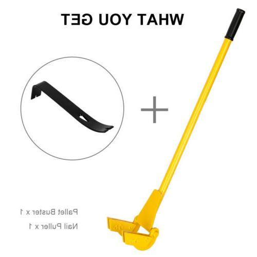 "44"" Pry Bar with Handle + Nail Puller Tool"