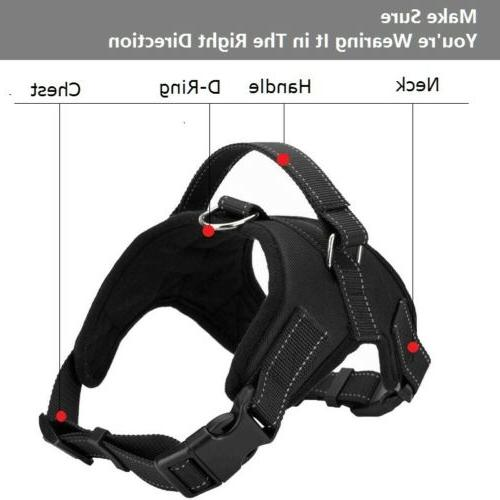 Dog No Adjustable Reflective with for Large Dogs