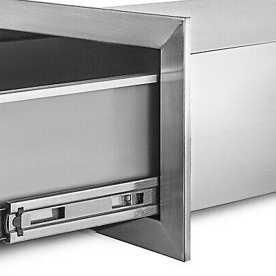 """8.5"""" Stainless Single Drawers With Drawer Tracks"""
