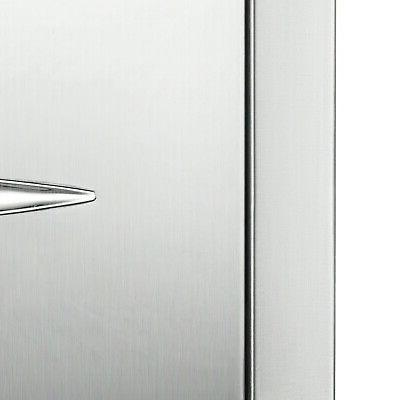 """8.5"""" Stainless With Drawer Tracks"""