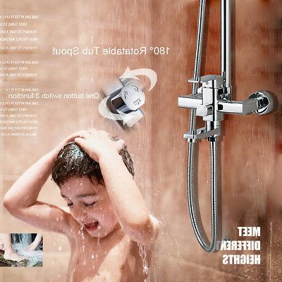8-Inch Rainfall Shower System with Bathtub Shower Mixer