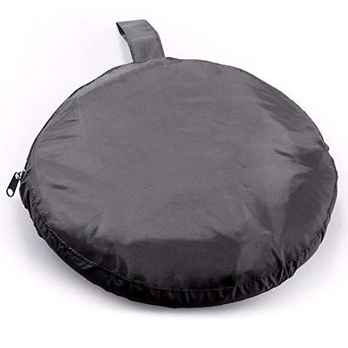 Lighting Reflector 32 80cm Disc Panel Kit with Portable Carrying Bag for Photo Studio White