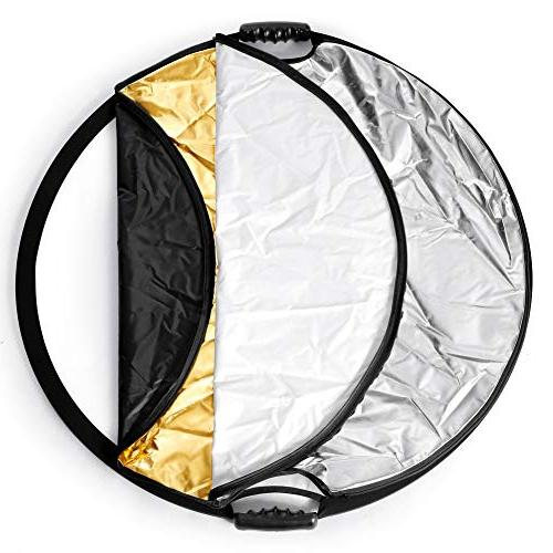 Fairview Lighting Reflector 32 Inch 80cm Disc Carrying Bag Camera Photo Gold White
