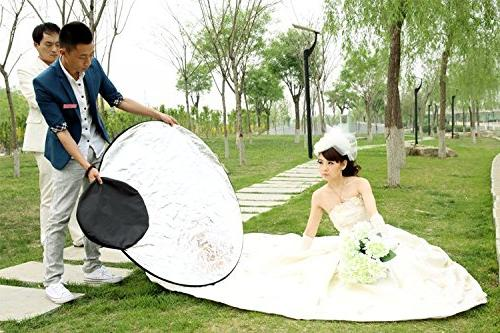 Fairview 5-in-1 Collapsible 80cm Handle Panel Portable Carrying Bag for Photo &Outdoor White