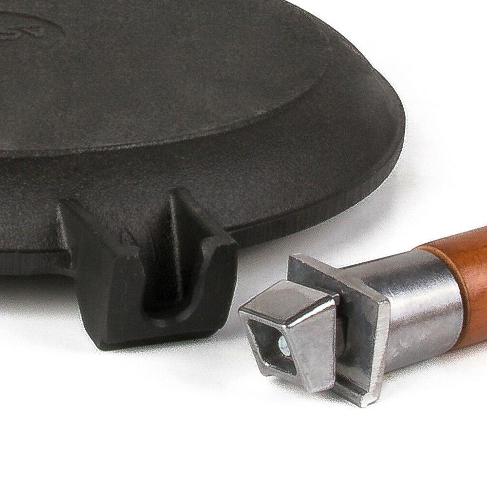 """9.4"""" Iron Crepe Skillet Removable Made"""