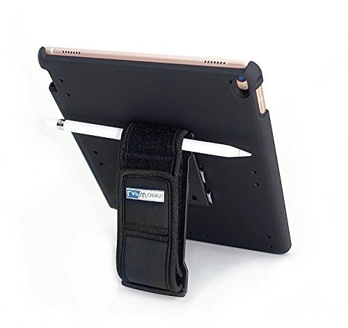 LapWorks iPad Case with Handle Holder and Stand - Velcro and