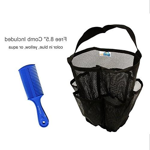 "BlueSkyBos + Large Unisex Quick Shower with Handle, And 8.5"" Comb with Side"