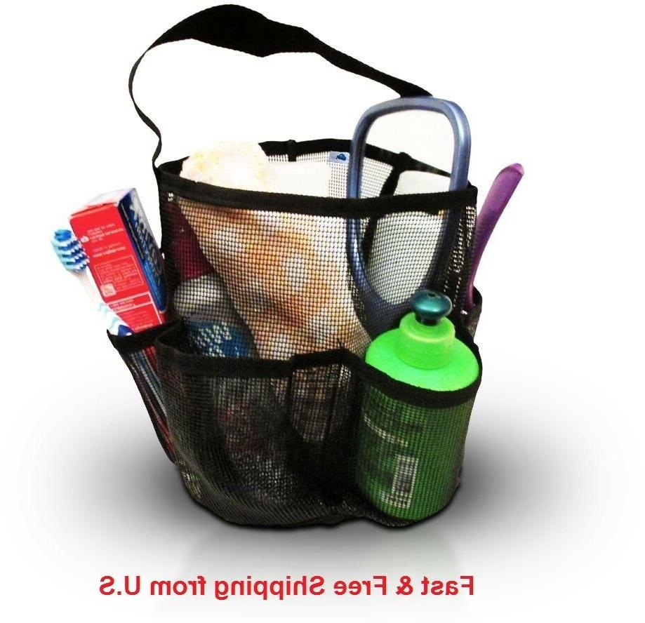 BlueSkyBos Mesh Shower Caddy + Large Comb. All-black Unisex