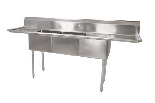 John Boos E Series Stainless Steel Sink, Multi Bowl, 3 Compa