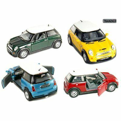 "Set of 4: 5"" Mini Cooper S 1:28 Scale  by Kinsmart"