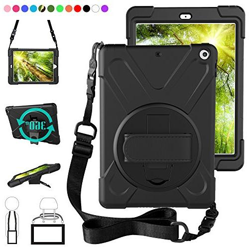ZenRich New iPad 9.7 2017 2018 Case,360 Degree Rotatable wit