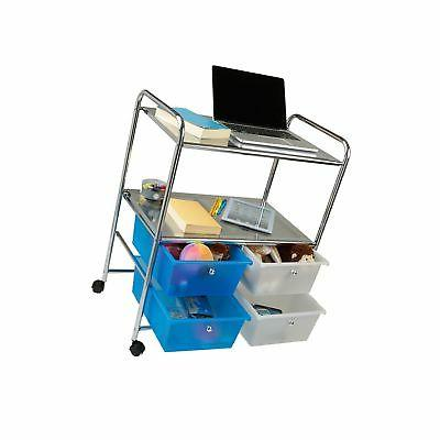 Mind Utility and 4 Storage Drawers, Silver