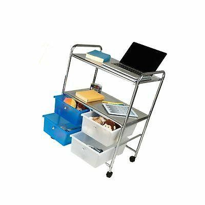 Mind Reader All Utility Cart Handles and 4 Silver