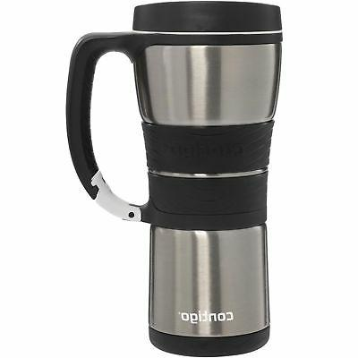 AutoSeal 16 oz Steel Wall Insulated with Carabiner Silver