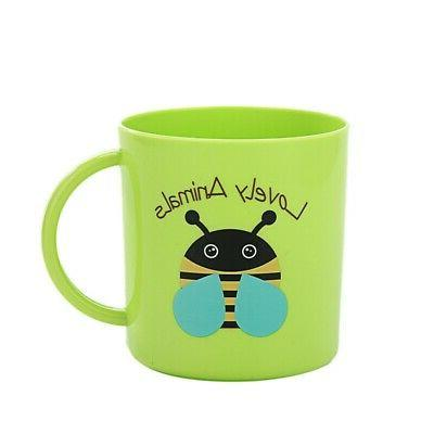 Baby Kids Cups Print Resuable Drinking With Handle