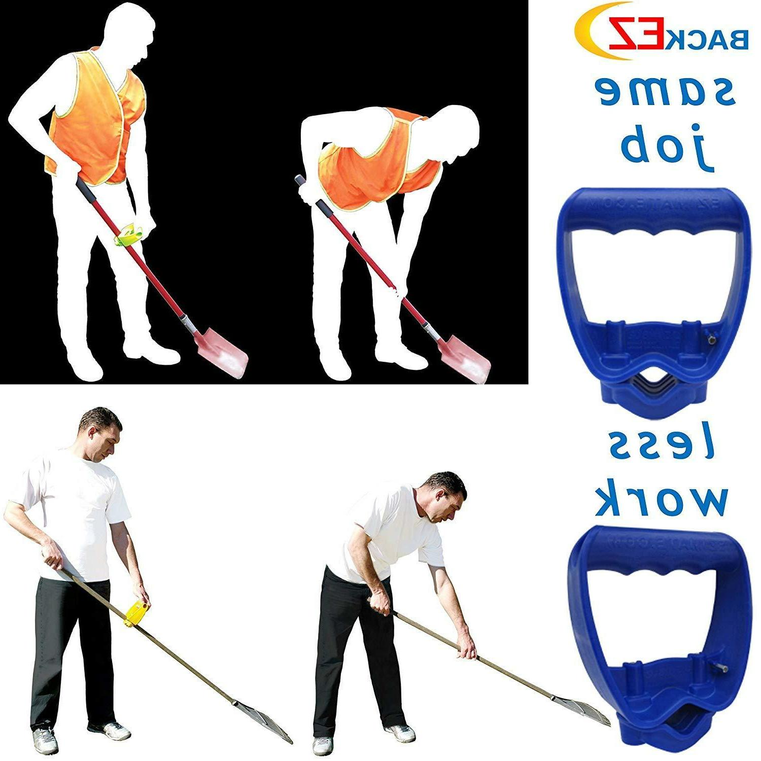 Back-Saving Tool Ergonomic Shovel Handle Attachment
