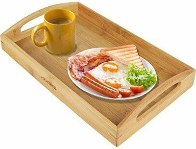 Bamboo Tray with Handle Plate