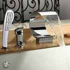 Bathroom Sink Waterfall Faucet Mixer Tap Roman-tub Hand Show