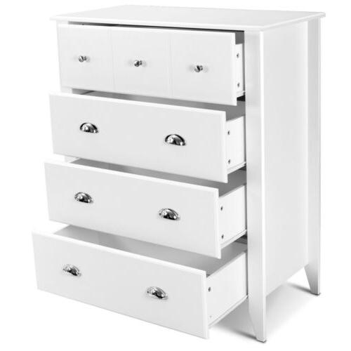 Bedroom Classic Chest Cabinet Storage Drawers Handles