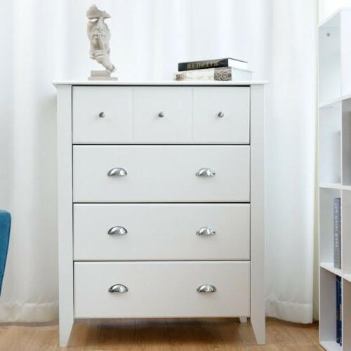 Bedroom Classic Chest Cabinet 4 Drawers Handles