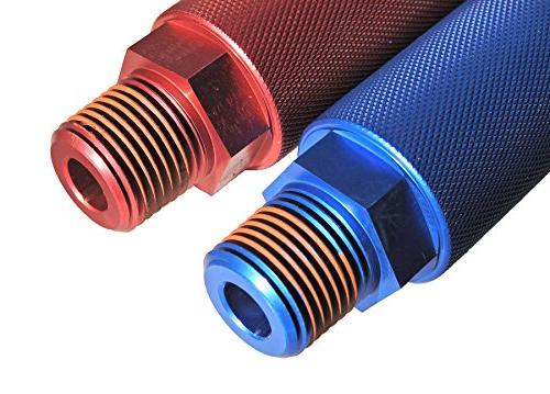 Road King BILLET GRIP HANDLE RED BLUE AND