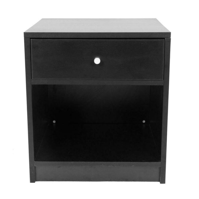 Black Round Handle One Drawer