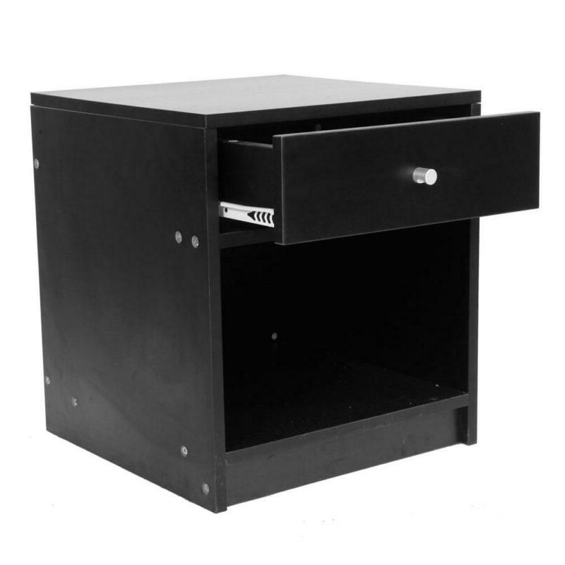Black Handle One Drawer Cabinet