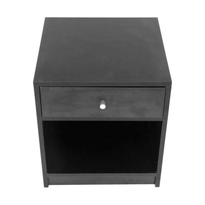 Black Round Handle With One Drawer Cabinet