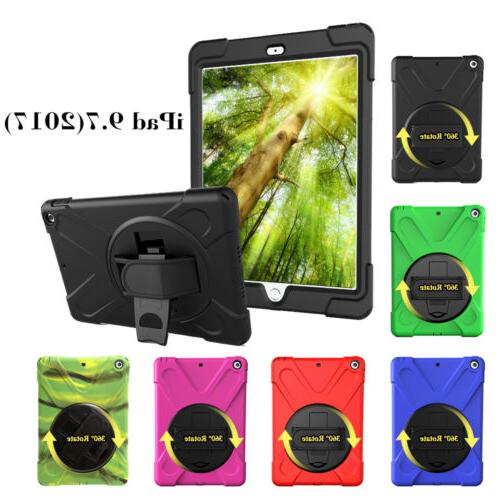Black Shockpoof Case for iPad 9.7  with Handle 360° Swivel