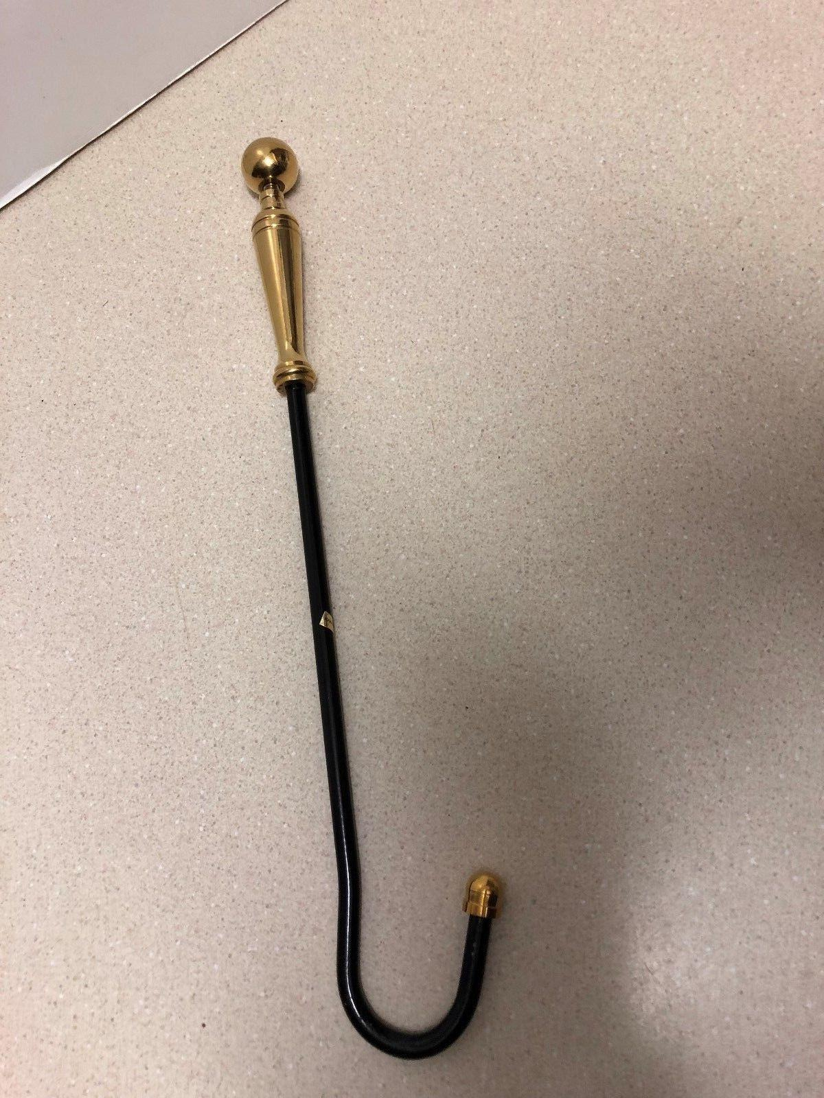 Brass Damper Pull with Finial Handle New