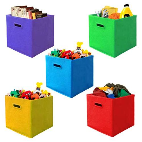 Bins Handles, Containers, Boxes, Tote, Baskets| Collapsible Household Organization | Fabric & Cardboard,Nursery