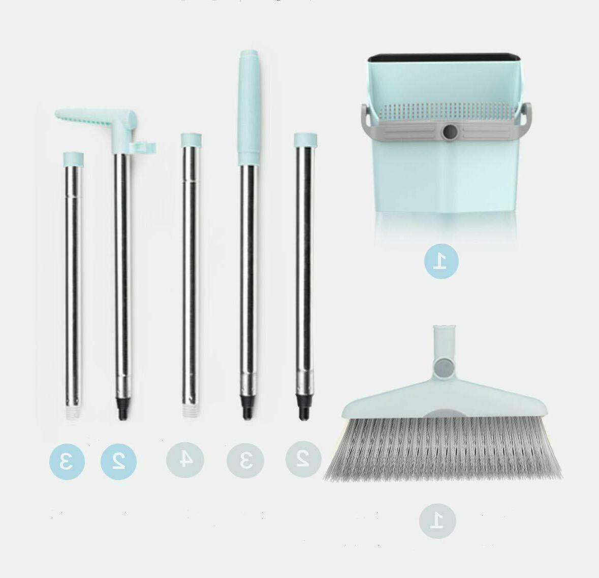Broom Dust Set for Home Use Upright Stand Dustpan Broom